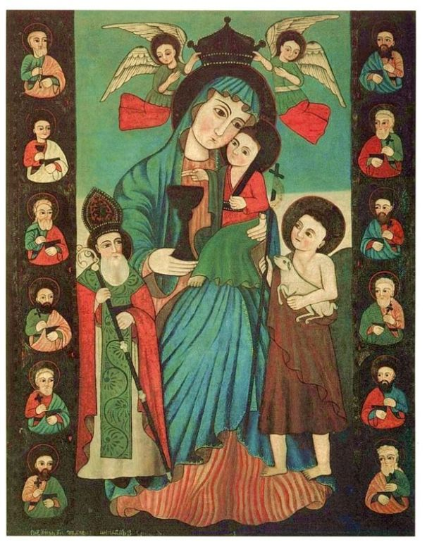 our lady and apostles armenian icon